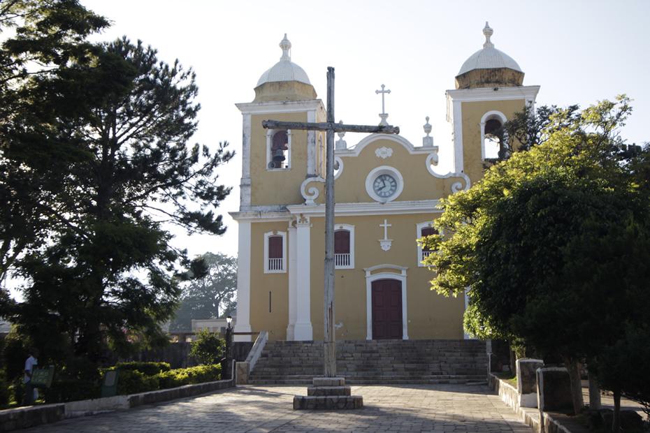 Igreja Matriz de São Thomé das Letras, cuja construção foi iniciada em 1785 por iniciativa João Francisco Junqueira.